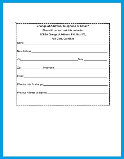 Change of Address – Official Change of Address Form